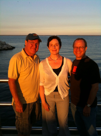 Bob Davis (Guthrie Theater), Laura Gordon (Milwaukee Repertory Theater), and Stephen Berenson (Trinity Repertory Company) take in the beauty of the Lake Michigan shore in Milwaukee.
